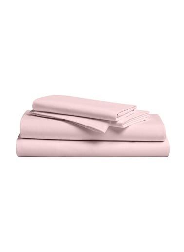 Hibboux 180x240 Dream Pure %100 Pamuk Saten Tek Kişilik Çarşaf Seti - LOTUS Renkli
